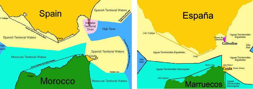 Aguas Territoriales Españolas Mapa.Legislacio Maritima